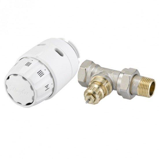 Комплект радиаторен термостат RAS-C2 и вентил RA-FN прав без предварителна настройка