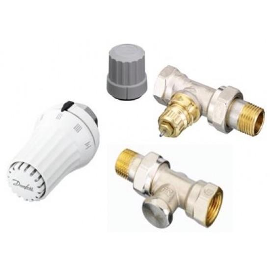 Комплект радиаторен термостат REA, вентил RA-FN и секретен вентил RLV-S