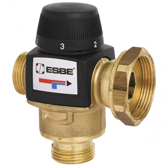 Термостатичен смесителен вентил за подово отопление ESBE 20-55'C с холендър